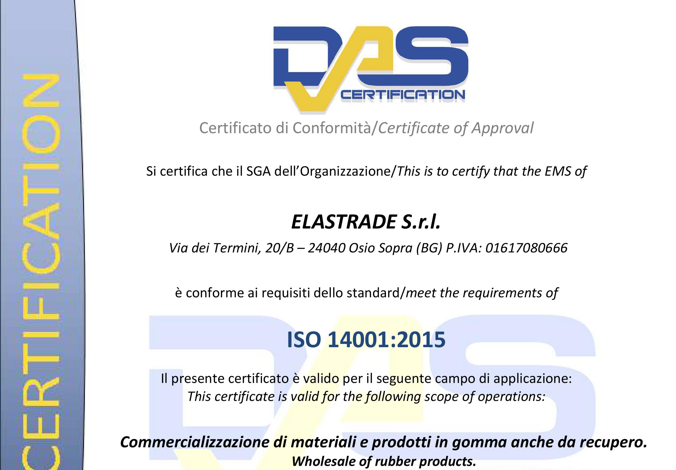 Das Certification 14001:2015