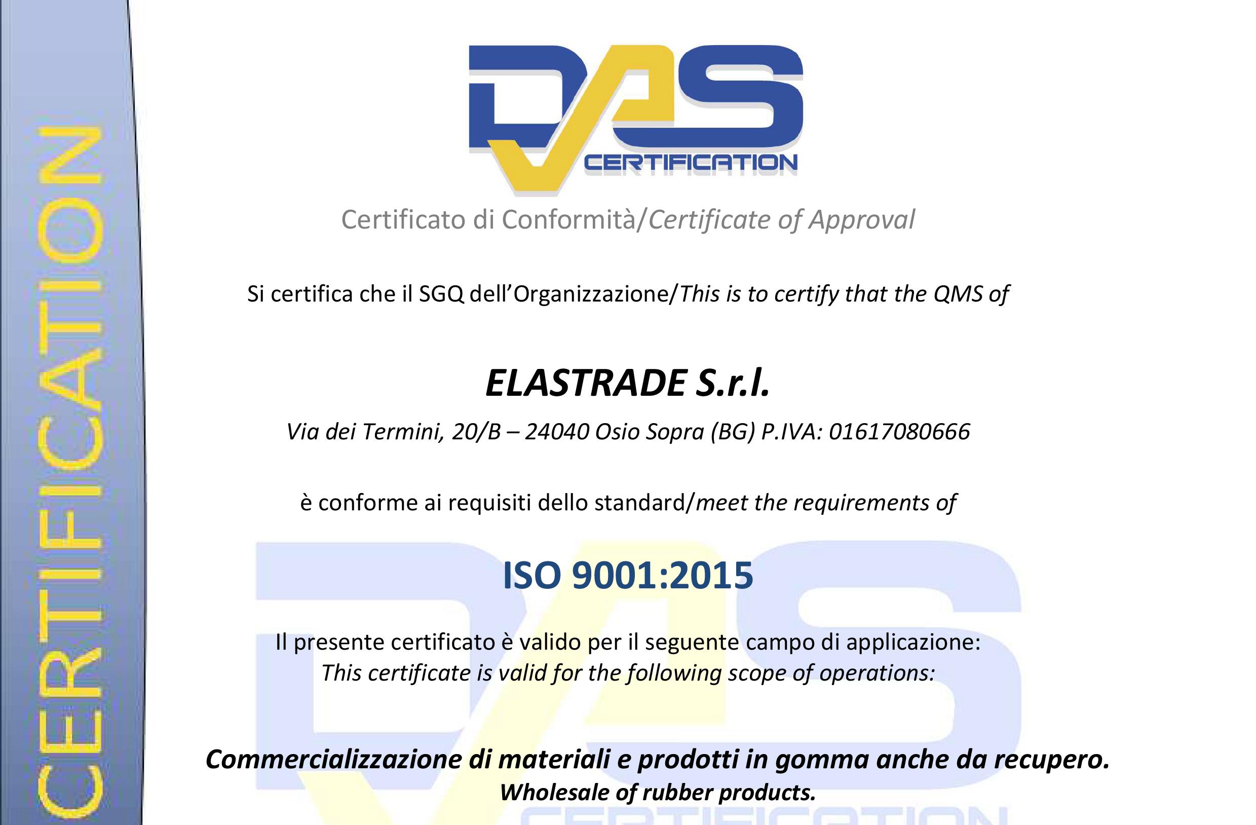 Das Certification 9001:2015